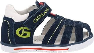 Grunland PP0228, Sandales pour Fille Bleu Bleu