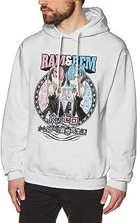 DDHHYY Re:Zero Kara Hajimeru Isekai Seikatsu Ram & Rem Men's Long Sleeved Pullover Sweatshirts Hoodies