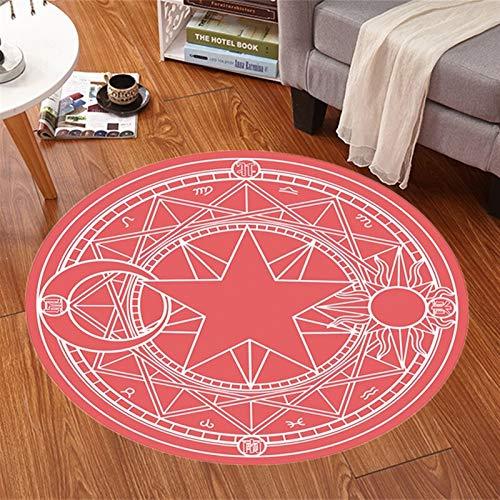 YSJJQSC Teppich Cartoon Anime Rug Card Captor Sakura Teppich Matte Magic Array Carpet Fußmatte Antislip Plüsch Prinzessin Wohnzimmer Dekor Mädchen Raumteppich Startseite Einrichtung