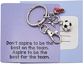 Sports Angelo Football Soccer Keychain, Gifts for Soccer Player and Soccer Team Gift, Soccer Ball and Shoes Keychain, Amazing Teamwork Gift, Soccer Player Accessories