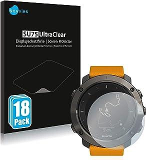 Savvies 18x Schermbeschermer compatibel met Suunto Traverse/Traverse Alpha Screenprotector ultra transparant