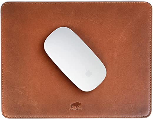 Solo Pelle – Hochwertiges Leder Mousepad 26×20 cm – Mauspad aus echtem Leder – Unterlage für Computermaus – Leather Pad – Handarbeit Made in Europa…