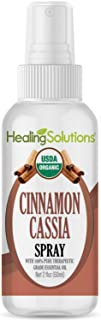 Organic Cinnamon Cassia Spray – Water Infused with Cinnamon Cassia Essential Oil – Certified USDA Organic - 2oz Bottle by Healing Solutions