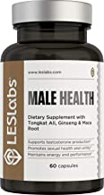 LES Labs Male Health, Testosterone Booster for Men, Strength, Endurance & Performance Supplement with Tongkat Ali, Maca & ...