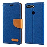 Huawei Honor View 20 Case, Oxford Leather Wallet Case with