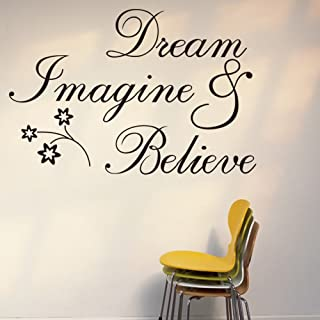 Witkey Dream Imagine and Believe Inspirational Wall Decal Stickers Quotes saying and words DIY Home Decor Vinyl Wall Mural...