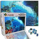 GFSJJ 1000 Piezas Puzzle De Madera Mundo Submarino Hundido Antiguo Barco Fantasía Puzles para Niño Infantiles Adolescentes Adultos Educativos Entretenimiento Adultos (29.5 X 19.7 Pulgada)