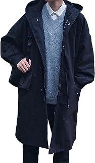Lisa Pulster メンズ モッズコート ゆったり ミリタリー ジャケット スプリングコート 春 秋 コート ジャケット フード付き 男性
