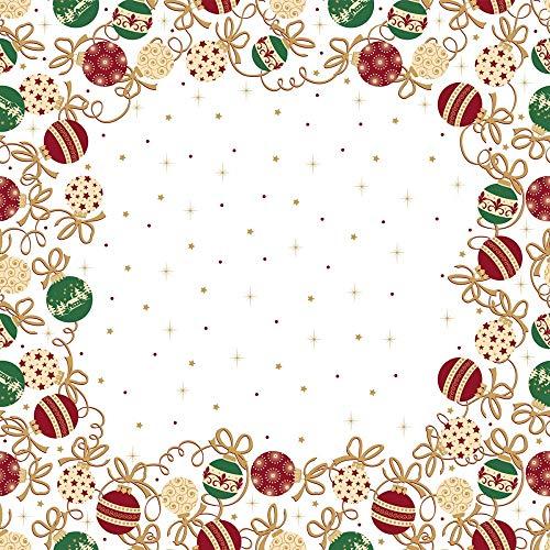 Sovie HORECA Tischdecke Belinda | aus Linclass® Airlaid | Mitteldecke Weihnachten Fest Feier | 80 x 80 cm, 20 Stück