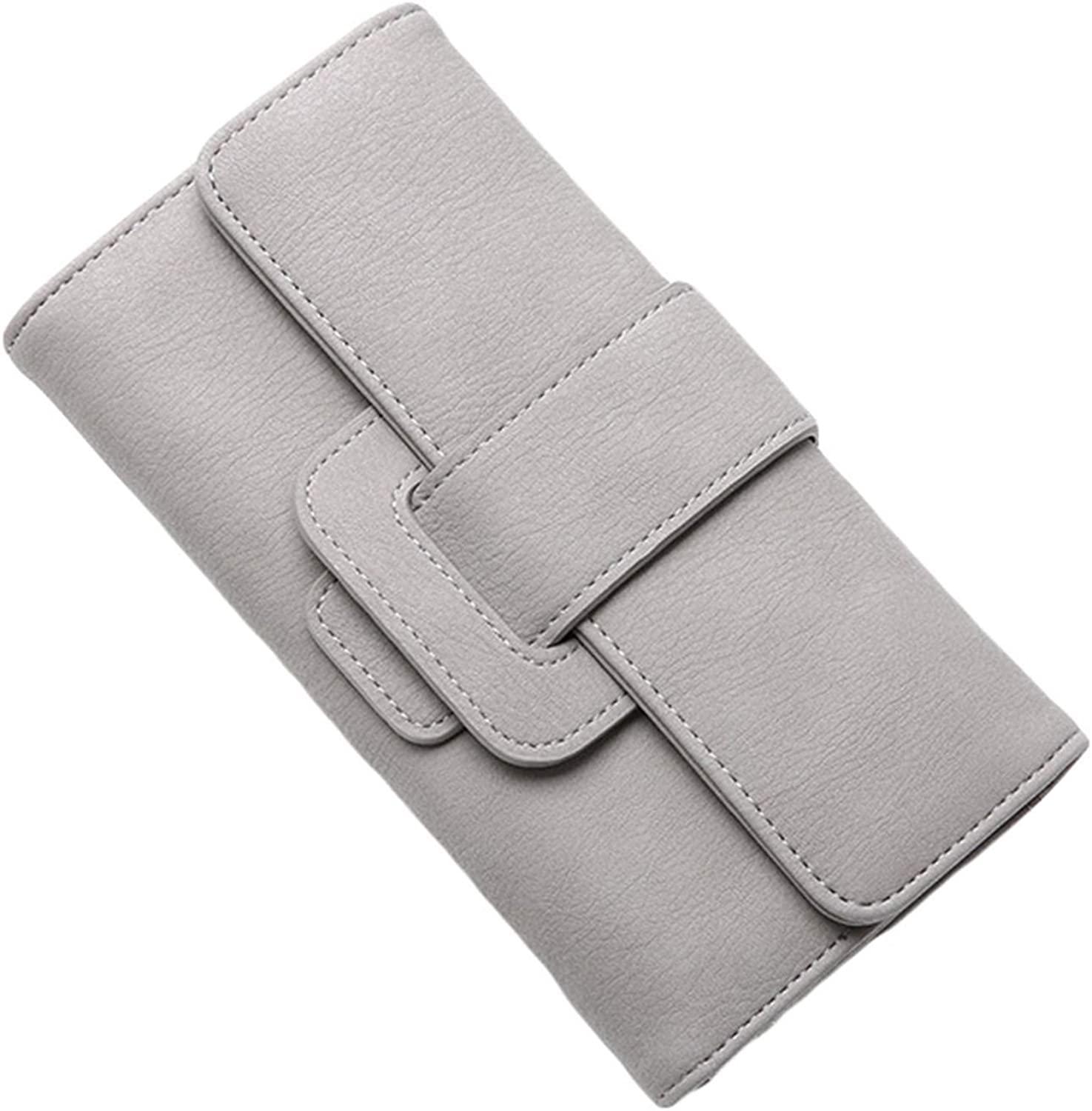 Andongnywell Wallet for Women Leather Bifold Long Ladies Credit Card Holder Organizer Ladies Clutch Purses