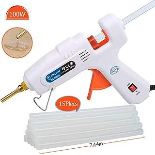 Lifegoo Professional Hot Melt Glue Gun Muzzle Long Mouth Pistol Glue 60w~100w with 15pcs White Glue Sticks Glue Gun Kit DIY Crafts, Art, Repairs, Festival Decoration