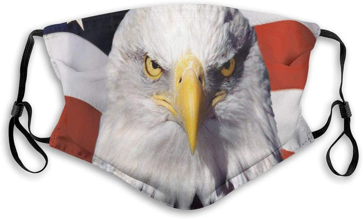 I Can/'t Breath American Flag Eagle Patriotic Mask Washable Face Cover Gaitor