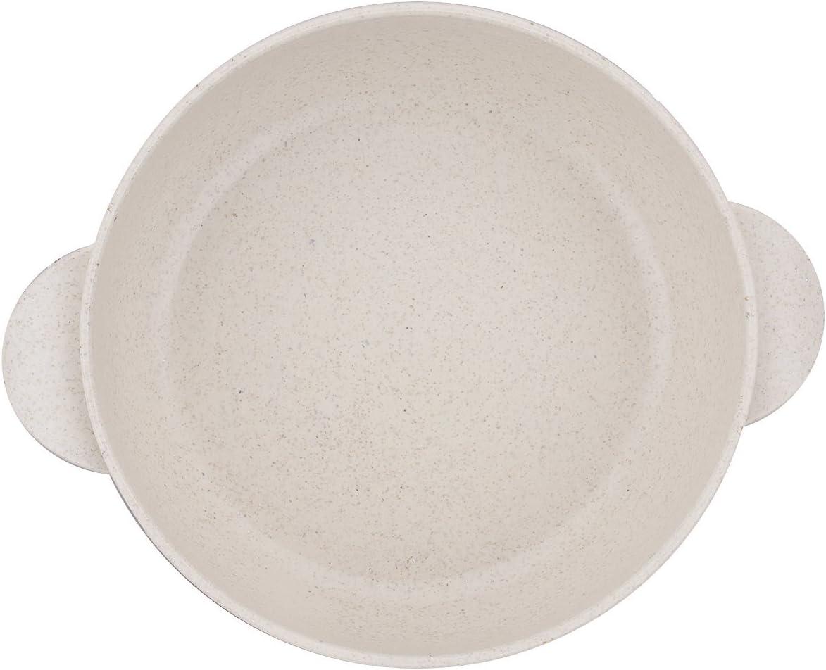 Beige Tige de Bl/é Naturel Plastique TankerStreet Bol Petit Dejeuner Cuill/ère /à Soupe Dessert pour B/éb/é Enfant Bol Avec Anse Cuill/ère B/éb/é Enfant