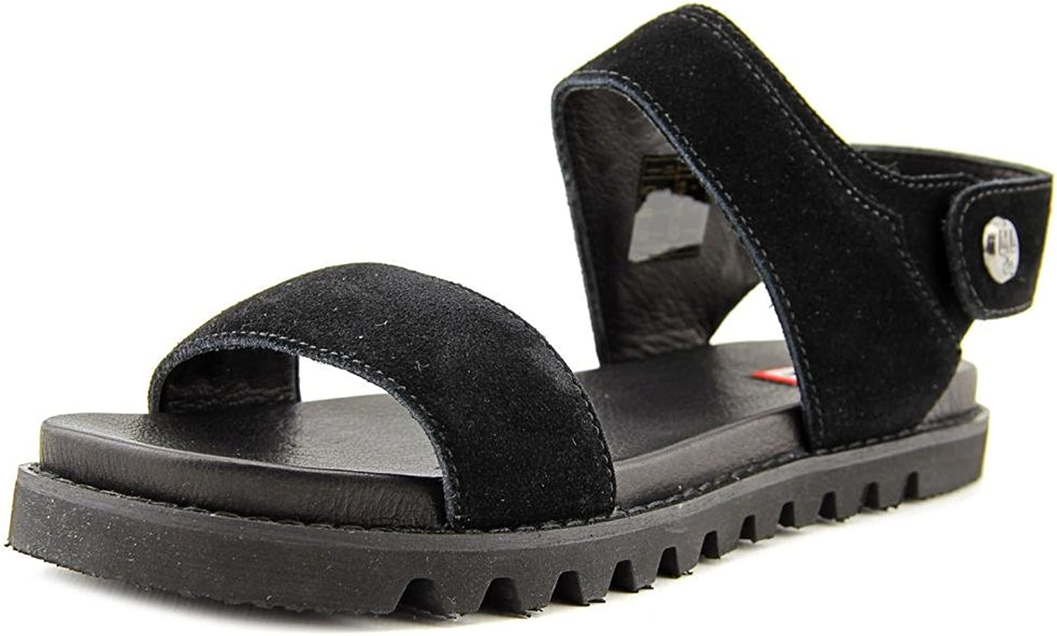 Hunter Womens Org Leather Sandal Leather Open Toe Casual Slingback Sandals