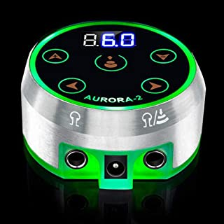 Romlon Tattoo Power Supply, Newest Aurora Professional Mini Digital Power Source with Touch Screen Panel Including Power Adaptor for Rotary Tattoo Machine Tattoo Kit Tattoo Supplies