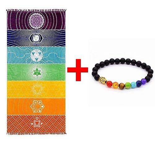 Grueso Cuadrado Bohemia Mandala Manta de yoga Pure Cotton 7 ...