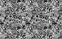 大人の子供のためのパズル120ピースレトロな黒と白子供のためのジグソーパズルジグソーパズル大規模なパズル