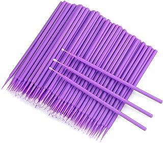 200 stuks wegwerp-microborstels, wimperborstels voor wimperverlenging... (paars)