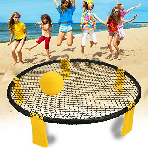 Elikliv Beach volleyball, mini portable beach volleyball training aid, suitable for beach games Outdoor beach volley ball spike game set