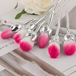 6pcs/Set Beauty and Rose Flower Shape Makeup Brushes Foundation Powder Make Up Flower Brushes Set Beauty Blush Brush
