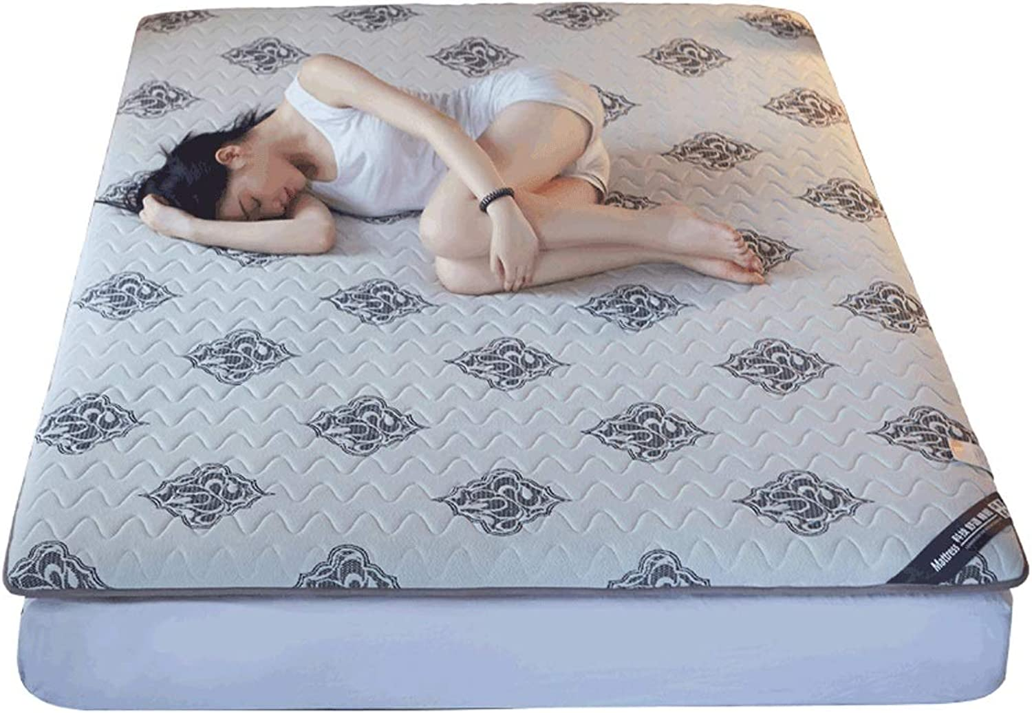 Tatami Knitted Mattress Home Relief Fatigue Sleeping Pad G (color   1, Size   90x200cm)