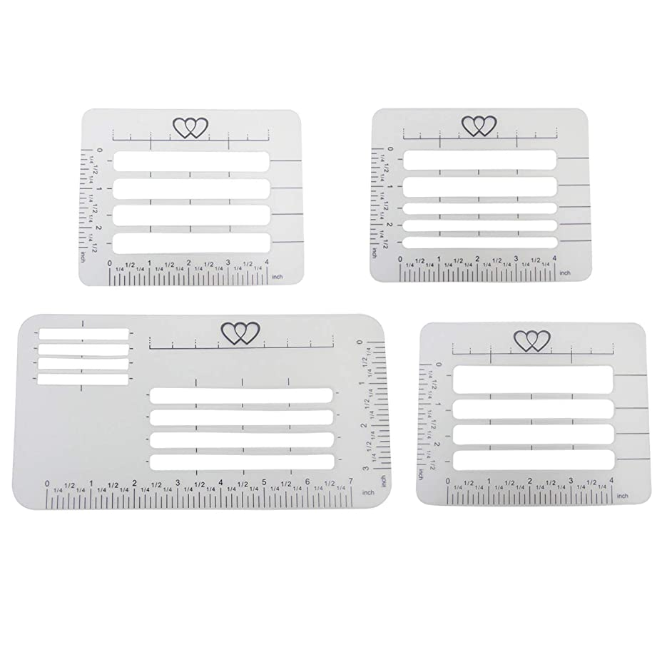 Lettering Envelope Addressing Stencil - 4 Template Ruler Guide - Fits a Wide Range of Stationery and Envelopes (4 pcs)