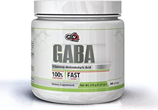 Pure Nutrition GABA Powder 1000mg Bodybuilding Supplement 100% Pure Gamma Aminobutyric Acid Fast Acting 212 Grams 200 Servings Helps Improve Mental Focus Clarity Promotes Relaxation Enhances Recovery