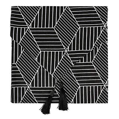 LEYIS Camino de Mesa Corredor de Mesa de Tassel de Lino de algodón Cubierta de gabinete de TV Cuadrado Grande (Color : Type C)