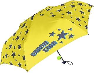 女の子 折りたたみ傘 キッズ傘 50cm 手開き 子供用 グラスファイバー リフレクター付き 折傘 クラッシュスター