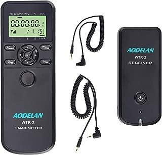 AODELAN Camera Wireless Shutter Release Timer Remote Control for Canon EOS R, RP, Rebel SL2, 250D, 750D, 90D, 80D, 77D, M6 Mark II, 5D Mark IV; Fujifilm X-T3, X-T100; Olympus OM-D E-M1 Mark II