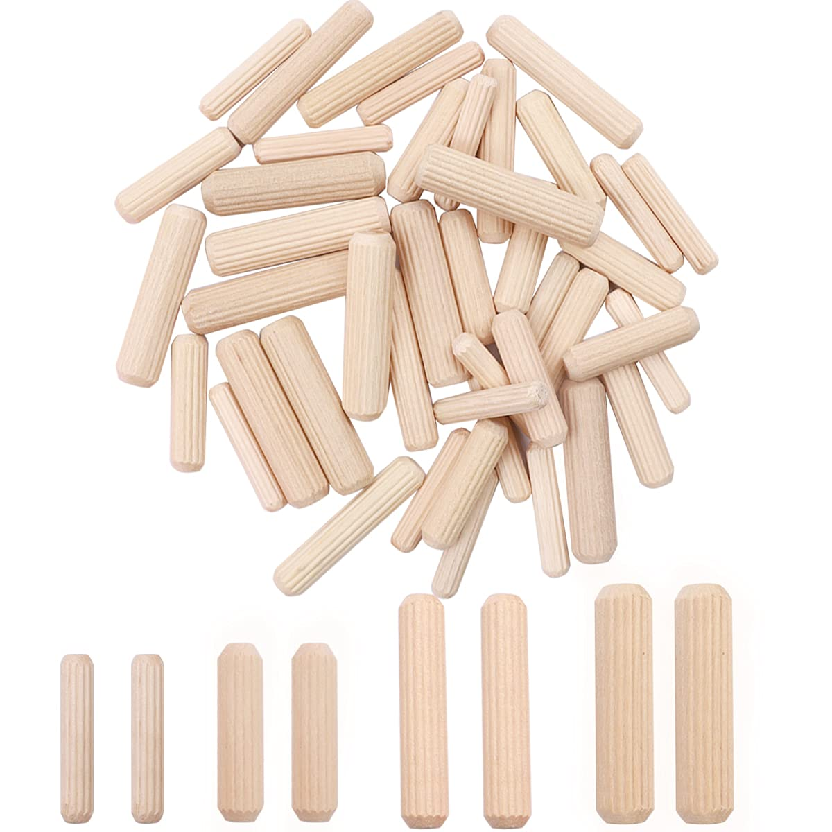 smseace 400PCS Straight Max 65% Luxury OFF Groove Wooden with Dowel Pins En Tapered