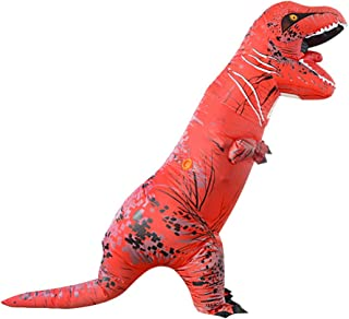 Wild Cheers Inflatable Costume Adult, Inflatable Dinosaur Costume, Fancy Dress, Blow Up T-Rex Costume for Party Gifts Halloween (Red)