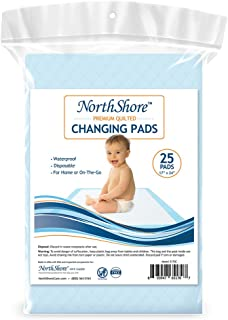 NorthShore Premium Quilted 17 x 24, 8 oz. Changing Pads, Small, Pack/25
