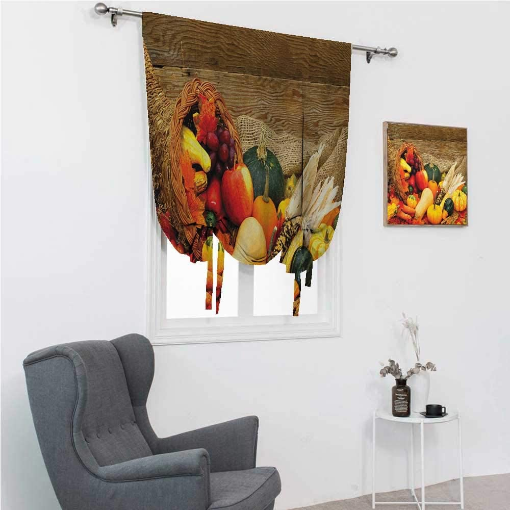 Kids Curtains Harvest Window Shades for Home Thanksgiving Relate