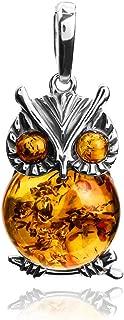 amber owl pendant