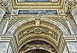 NOBRAND Lienzo de Bricolaje Regalo de Pintura al óleo para Adultos niños París Francia Louvre Palacio Entrada