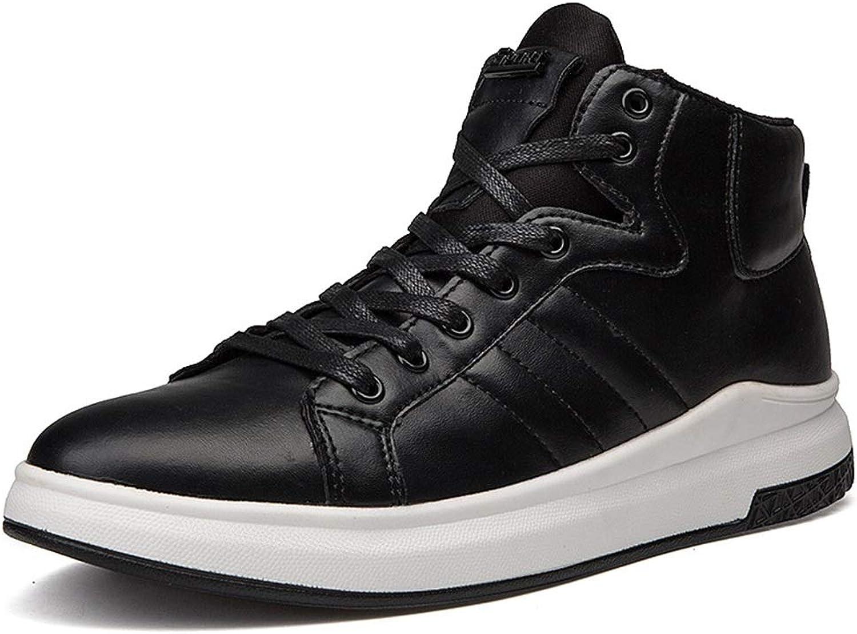 Men's shoes FEIFEI Winter Warm Trend Wild shoes Non-slip Black Casual shoes (color   BLACK, Size   US11 EU43 UK9 CN44)