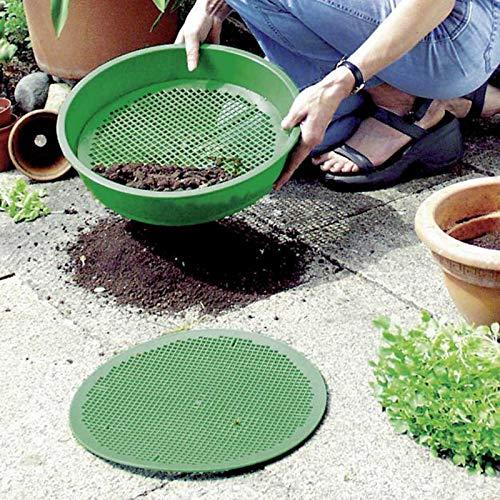 SIDCO Gartensieb Erdsieb Kompostsieb Rüttelsieb Kunststoff Durchwurfsieb Erde Ø 38 cm