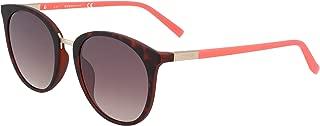 Guess Women's GU3022 GU3022 52F Round Sunglasses, Brown, 52 mm