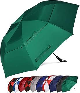 Eono Essentials - Paraguas de Golf Resistente al Viento con Doble Tela y Sistema de Apertura automático, 58/62 Inch