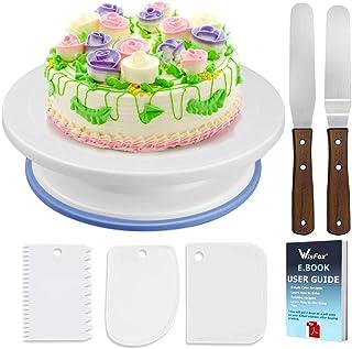 Soporte de torta giratorio de placa de pastel de WisFox