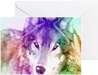 CafePress Wolf Gaze Art Greeting Card, Note Card, Birthday Card, Blank Inside Matte