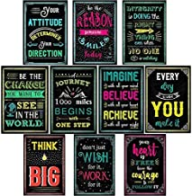 Cjoly 10 Sheets Motivational Posters for Classroom & Office Decorations| Education Quotes Banner| Positive Bulletin Board Decor| Teacher Classroom Decorations| Inspirational Art