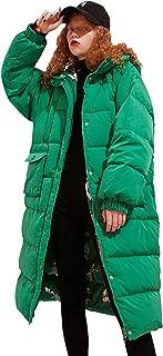 Elf Sack Women Hoodie Thickened Long Down Jacket Winter Maxi Down Parka Puffer Ski Outwear Coat