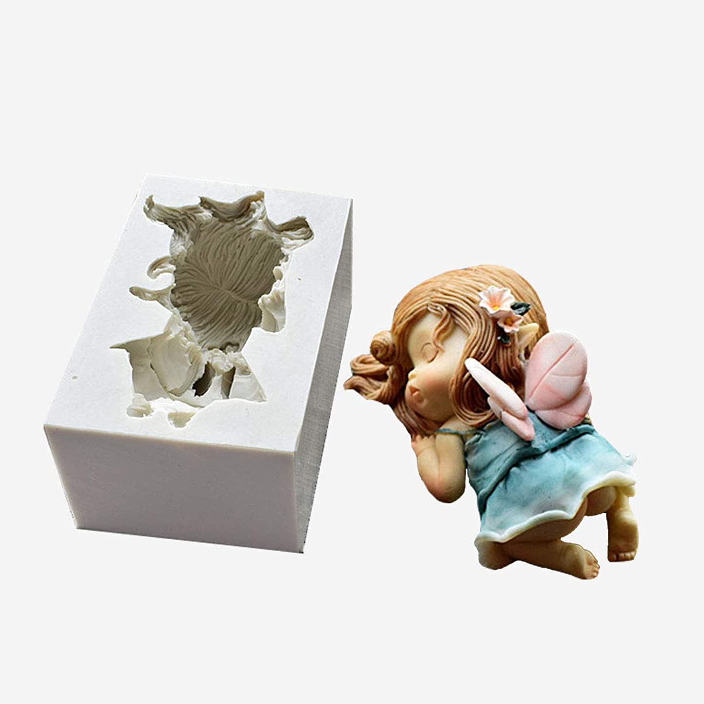 Runloo Sexy Flower Fairy Silicone Mold Chocolate Soap Cake Mould for Baby Angel