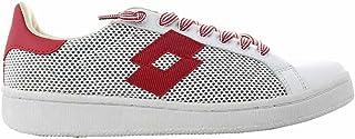 Lotto Leggenda, Uomo, Autograph White Red, Mesh / Pelle, Sneakers, Bianco, 43 EU