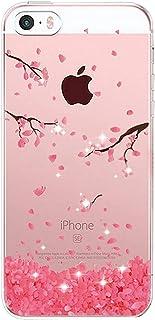 AIsoar Custodia iPhone SE, Cover iPhone 5S iPhone 5 Silicone, Cover per iPhone 5s 5 SE Panda Case Custodia Silicone Traspa...