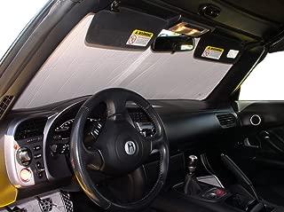The Original Windshield Sun Shade, Custom-Fit for Honda S2000 Convertible 2000-2009, Silver Series