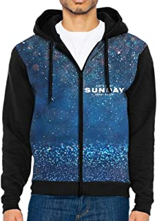 Make Sunday Great Again Full-Zip Hoodie Casual Pullover Hooded with Pockets for Men