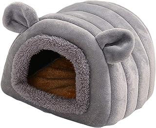 Haokaini Lit de Hamster Hiver Chaud Petits Animaux Maison Grotte Animal de Compagnie Confortable Cachette Dormeurs Nid Lit...